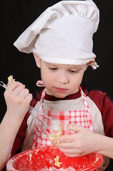boy with dough