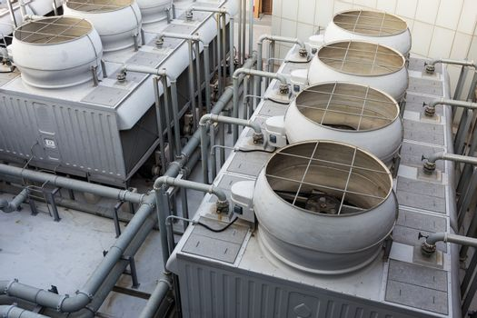 Ventilation systems on roof top