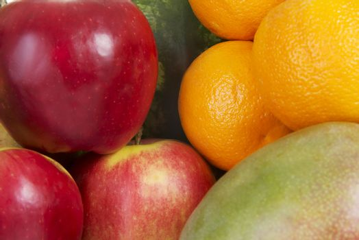 Close up on fresh fruits.