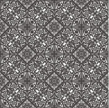Vintage intricate seamless background tile based on Middle Eastern Arabic motif patterns