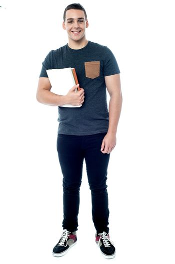 College student ready to attend class