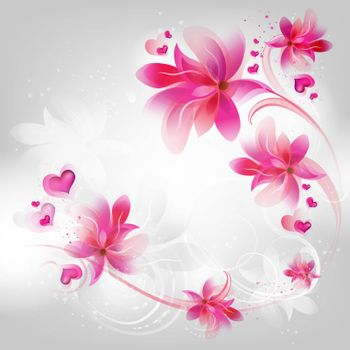 Valentines Background With Design Ornate
