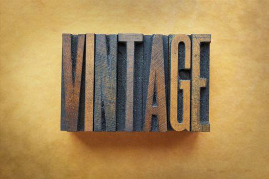 The word VINTAGE written in letterpress type.