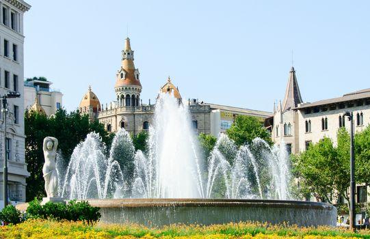 Fountain on the Plaza Catalunya
