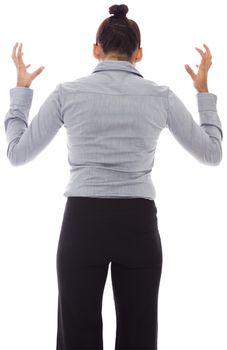 Businesswoman gesturing