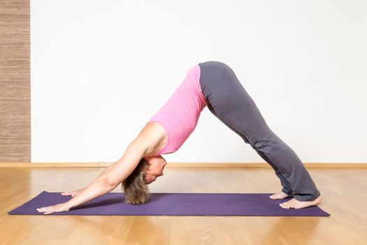An image of a woman doing yoga