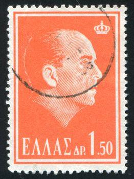 GREECE - CIRCA 1963: stamp printed by Greece, shows King Paul I, circa 1963