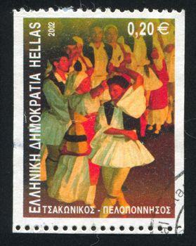 GREECE - CIRCA 2002: stamp printed by Greece, shows Tsakonikos dance, circa 2002