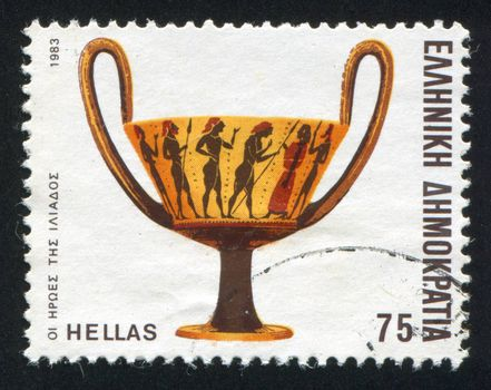 GREECE - CIRCA 1983: stamp printed by Greece, shows the heroes of the Iliad, circa 1983