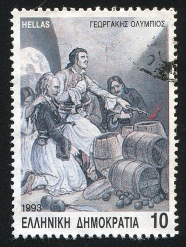 GREECE - CIRCA 1993: stamp printed by Greece, shows Death of Georgakis Olympios, circa 1993