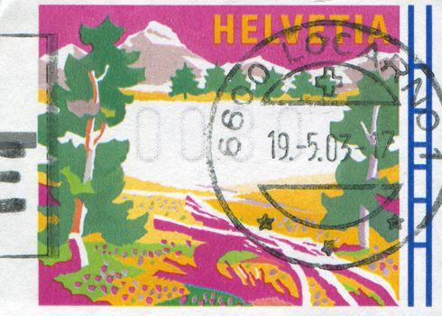 SWITZERLAND - CIRCA 1996: stamp printed by Switzerland, shows Summer, circa 1996