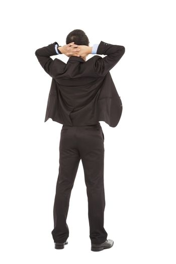 businessman standing ,enjoy free time and relaxing