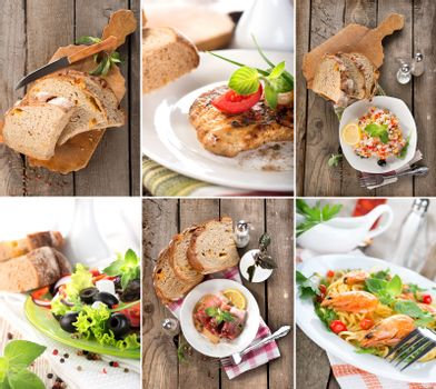 Collage of prepared dishes
