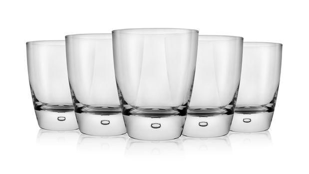 Empty glass of whiskey