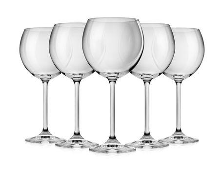 Empty wine glass isolated