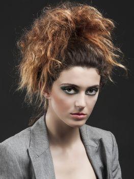 Studio portrait of a beautiful and fashion woman