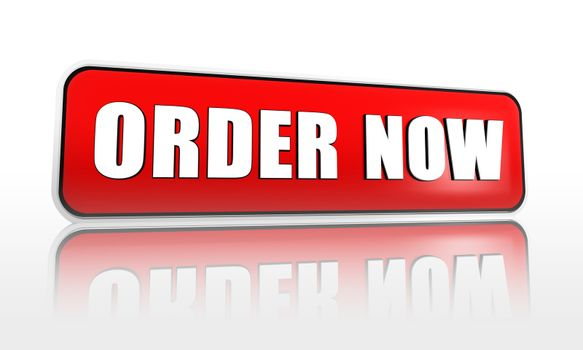 order now on red banner