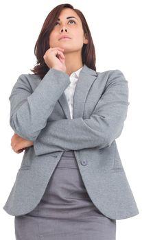 Focused businesswoman