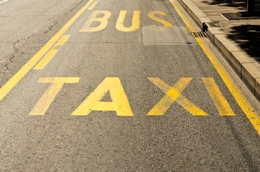 Taxi and bus sign