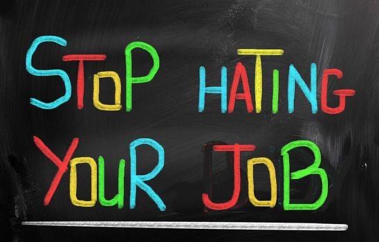 Stop Hating Your Job Concept
