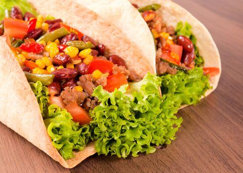 Taco close up
