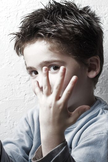 Small boy playing
