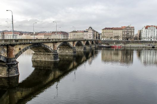 bridge on the Vltava River