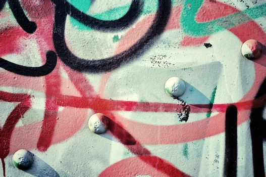 Graffiti and metal