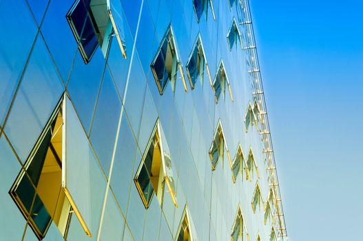 Finance building windows