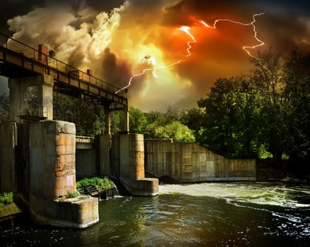 Dam and storm