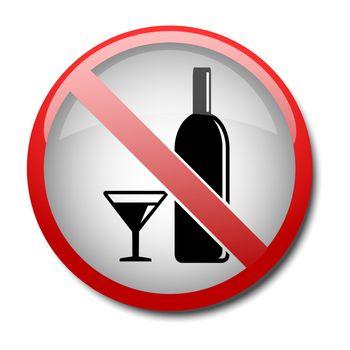 sign no alcohol 2d