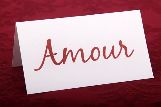Amour card (love)