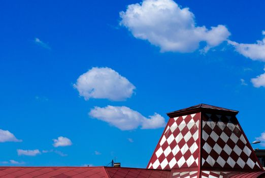 Roof and clouds