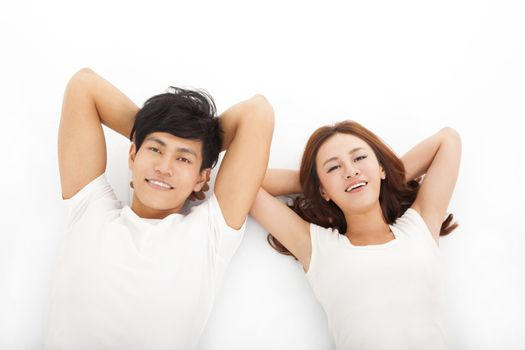 Young happy and relaxed couple