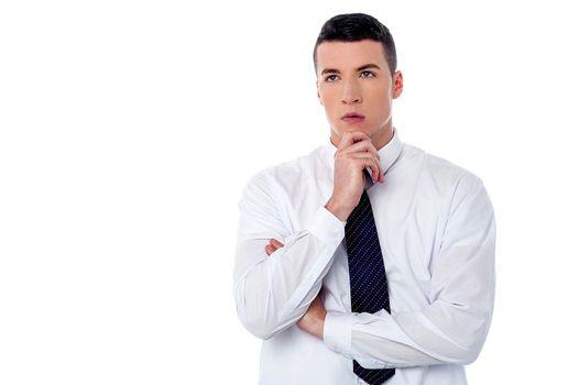 Businessman thinking something