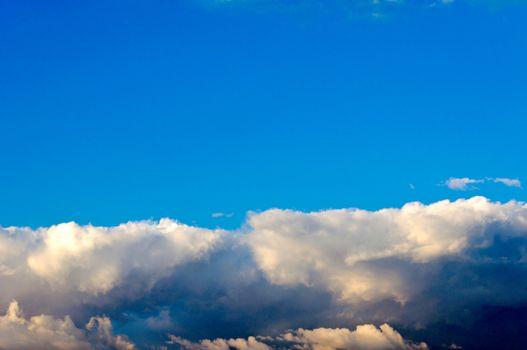 Blank blue sky