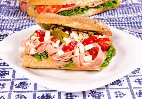 Sandwich on the plate