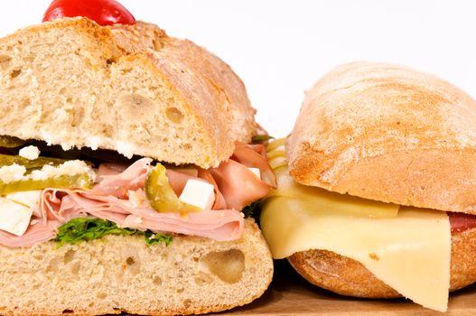 Closeup sandwichs