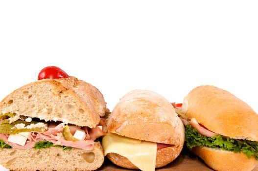 Three sandwichs