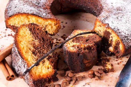 Vanilla nad coffe cake