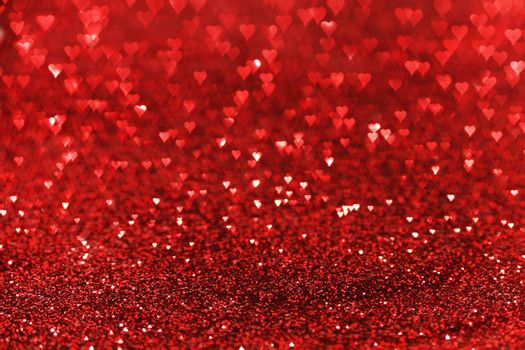 Red glitter background, valentines day card