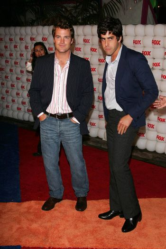Chris O'Donnell and Adam Goldberg At the FOX Summer 2005 TCA Party, Santa Monica Pier, Santa Monica, CA 07-29-05