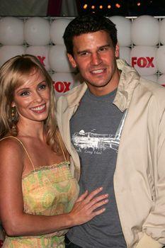 Jaime Bergman and David Boreanaz At the FOX Summer 2005 TCA Party, Santa Monica Pier, Santa Monica, CA 07-29-05