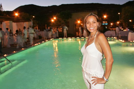 Jaqueline Fleming at the White Summer Pamper Party Hosted by G Report Magazine and H2O Skin Spa, Private Location, Porter Ranch, CA 07-31-05