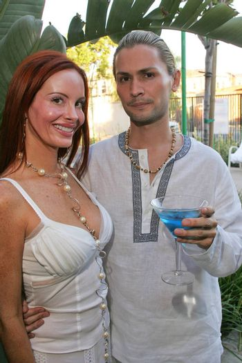 Phoebe Price and J.R. at the White Summer Pamper Party Hosted by G Report Magazine and H2O Skin Spa, Private Location, Porter Ranch, CA 07-31-05