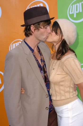 Lucas Bryant and friend At the UPN Summer TCA Party, Paramount Studios, Hollywood, CA 07-21-05