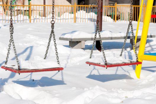 Swings at winter