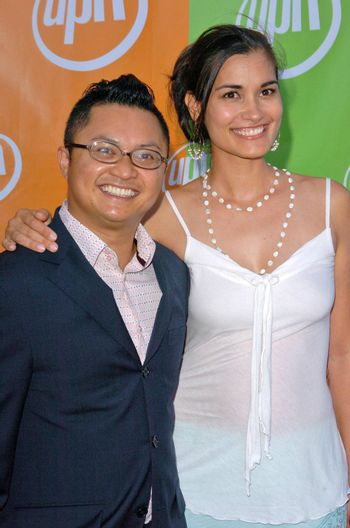 Alec Mapa and friend At the UPN Summer TCA Party, Paramount Studios, Hollywood, CA 07-21-05