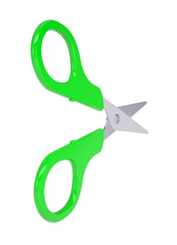 Scissors with green handles