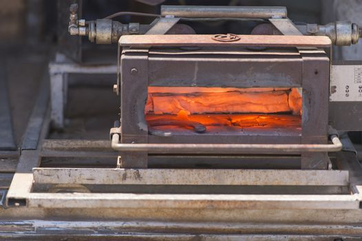 blast furnace from the field